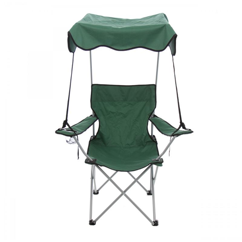 Scaun pliabil pentru camping, 84 x 52 x 85 cm, protectie solara, structura metalica 2021 shopu.ro