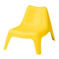 Scaun exterior pentru copii, 49 x 51 cm, suporta maxim 110 kg, Galben