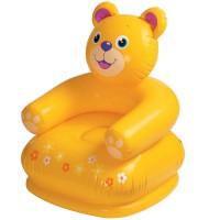 Scaun gonflabil pentru copii Intex, 75 x 65 x 64 cm, ursulet