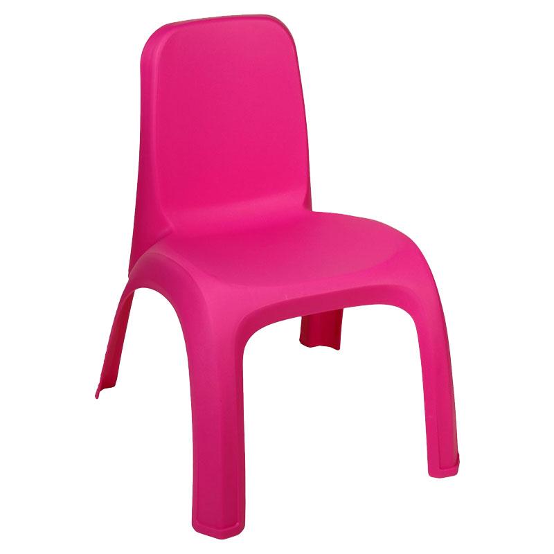 Scaun inalt din plastic pentru copii, 43 x 37 x 52 cm, Fuchsia 2021 shopu.ro