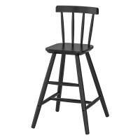 Scaun inalt pentru copii, inaltime 79 cm, Negru