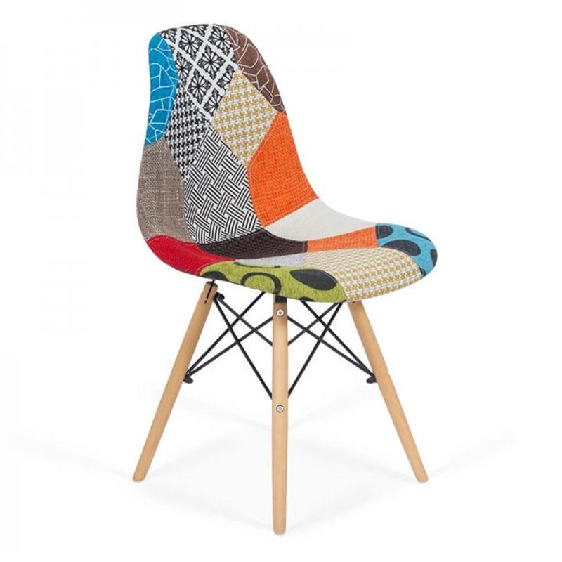 Scaun living, tapiterie stofa, suporta maxim 110 kg, multicolor 2021 shopu.ro