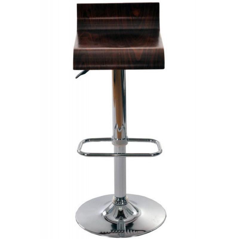 Scaun pentru bar, finisaj lemn si crom, sistem hidraulic, intaltime 91 cm, maro 2021 shopu.ro