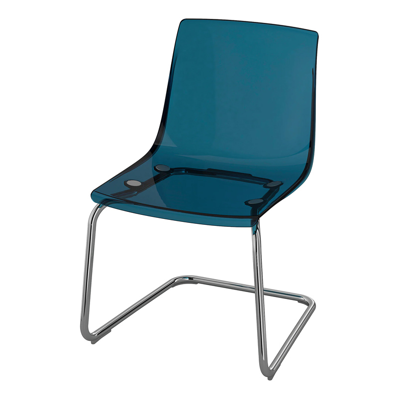 Scaun pentru bucatarie, inaltime 82 cm, suporta maxim 110 kg, Albastru 2021 shopu.ro