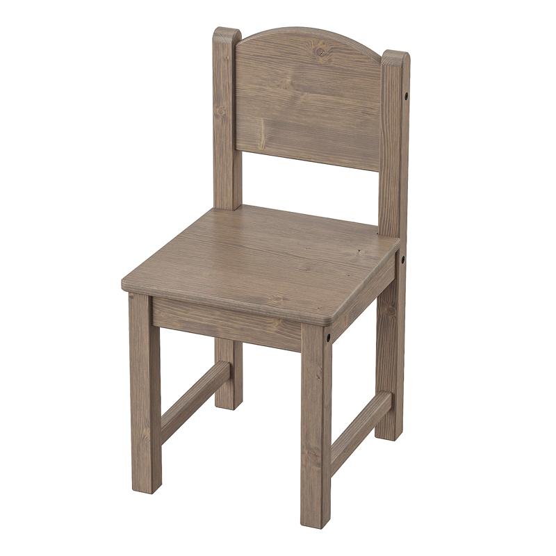 Scaun pentru copii Round, 55 x 28 cm, lemn masiv, Maro 2021 shopu.ro