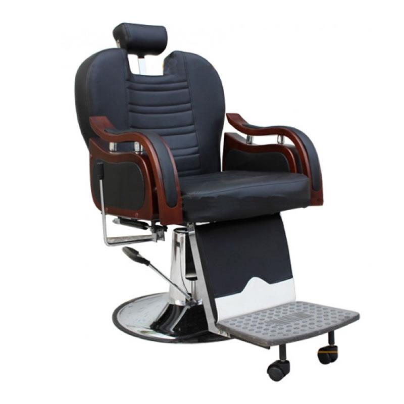 Scaun pentru frizerie Hollywood, piele ecologica, negru 2021 shopu.ro