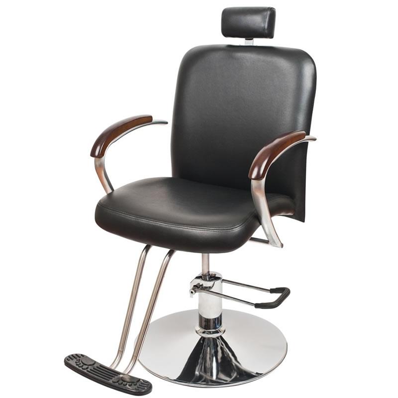 Scaun pentru frizerie London, piele ecologica, negru 2021 shopu.ro
