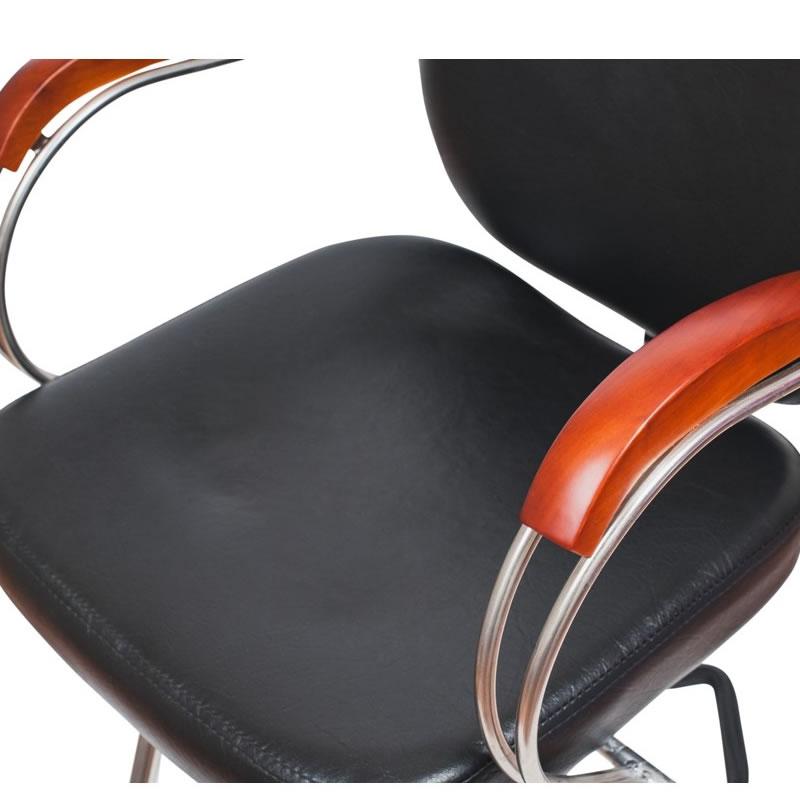Scaun pentru frizerie Munchen, piele ecologica, negru