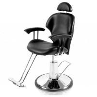 Scaun pentru frizerie Paris, piele ecologica, negru