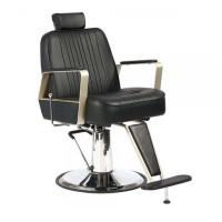 Scaun pentru frizerie Vintage Nero Barcelona, suport picioare, negru