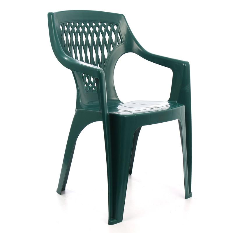Scaun pentru gradina Adrian, plastic, verde shopu.ro
