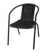 Scaun pentru gradina Bistro, metal, polietilena, negru