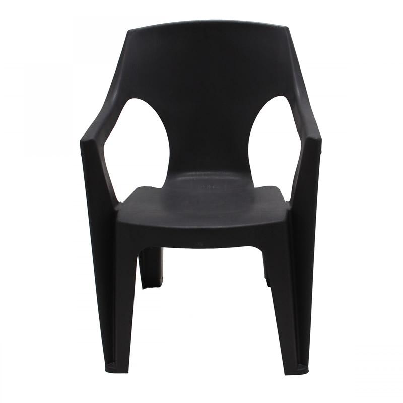 Scaun pentru gradina Cati, plastic, maro shopu.ro