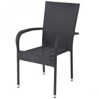 Scaun pentru gradina Haiti, metal, polietilena, negru