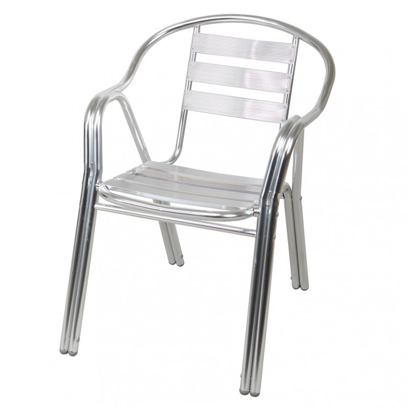 Scaun pentru gradina Pro, aluminiu, gri 2021 shopu.ro