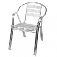 Scaun pentru gradina Pro, aluminiu, gri