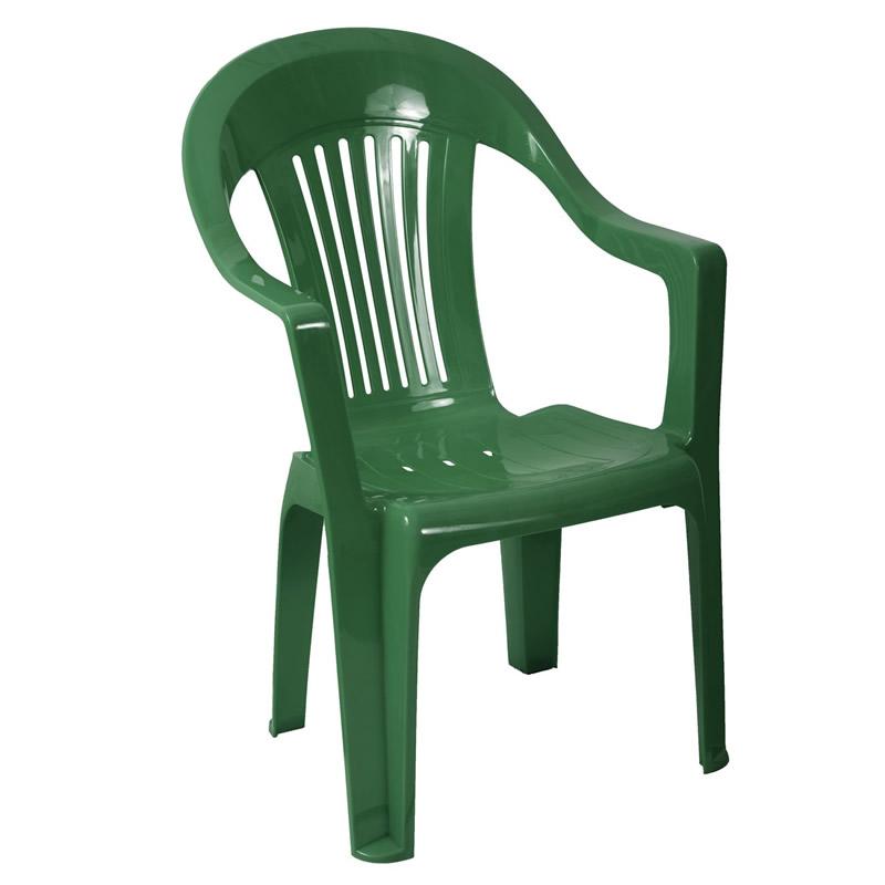 Scaun pentru gradina Sole, plastic, verde shopu.ro