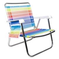 Scaun pentru plaja cu buzunar, 61 x 53 x 65 cm, suporta maxim 90 kg, Multicolor