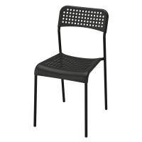 Scaun plastic pentru bucatarie, inaltime 77 cm, Negru