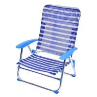 Scaun pliabil pentru camping/plaja, 67 x 57 x 75 cm, model dungi