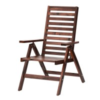 Scaun pliabil pentru exterior, 5 pozitii, inaltime 101 cm, Maro