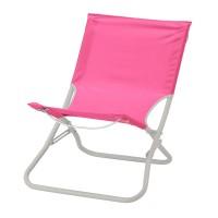 Scaun pliabil pentru gradina/plaja, 86 x 54 cm, Roz