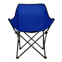 Scaun pliabil pentru plaja, 50 x 50 x 80 cm, Albastru