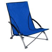 Scaun pliabil pentru plaja, 55 x 52 x 66 cm, Albastru