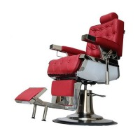 Scaun profesional pentru salon David 3308A, reglabil, rotativ, rosu