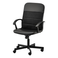 Scaun rotativ pentru birou, inaltime maxima 108 cm, suporta maxim 110 kg, Negru