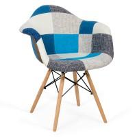 Scaun, cadru lemn, tapiterie stofa, suporta 110 kg, inaltime 82 cm, Multicolor