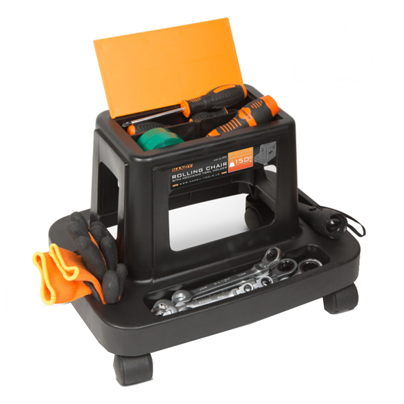 Scaun de lucru pe rotile Handy, 44 x 32 x 31 cm, plastic, 5 compartimente, maxim 150 kg shopu.ro