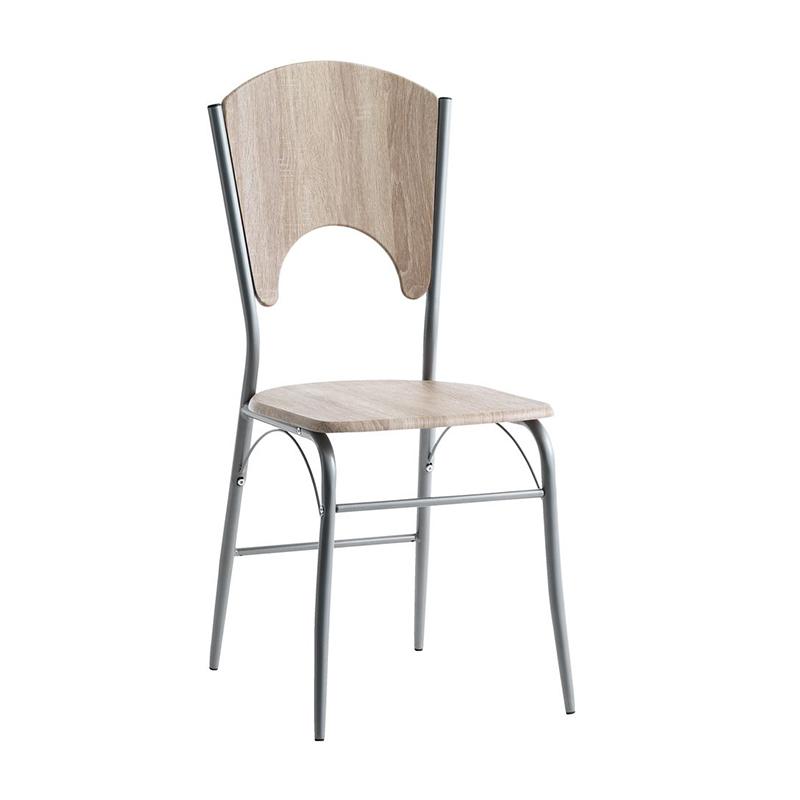 Scaun pentru bucatarie, 41 x 92 x 47 cm, MDF, cadru otel, maxim 110 kg, Stejar 2021 shopu.ro