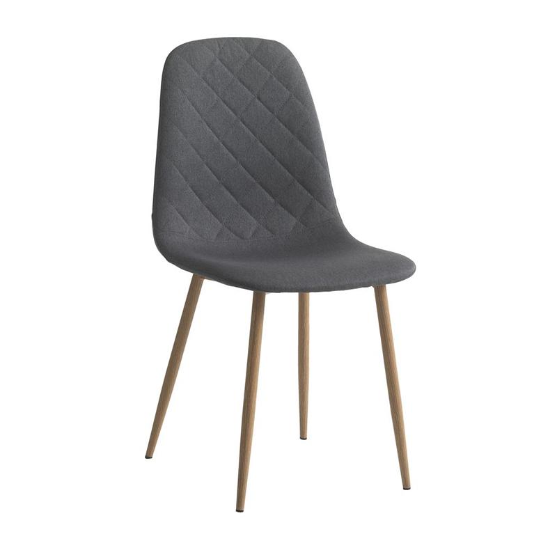 Scaun pentru bucatarie, 43 x 84 x 53 cm, poliester/metal, maxim 110 kg, Stejar/Negru 2021 shopu.ro