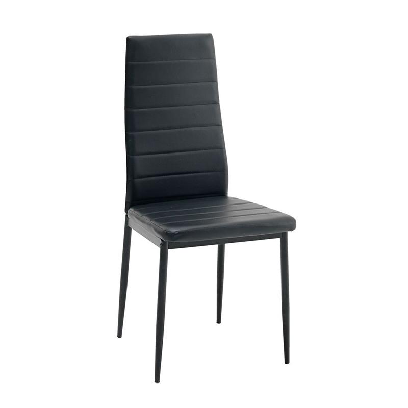 Scaun pentru bucatarie, 43 x 95 x 51 cm, piele ecologica, cadru metal, maxim 110 kg, Negru 2021 shopu.ro