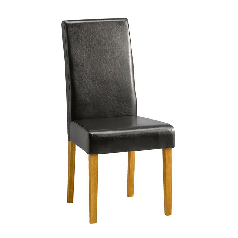 Scaun pentru bucatarie, 47 x 100 x 60 cm, piele ecologica, cadru lemn masiv, maxim 110 kg, Maro shopu.ro