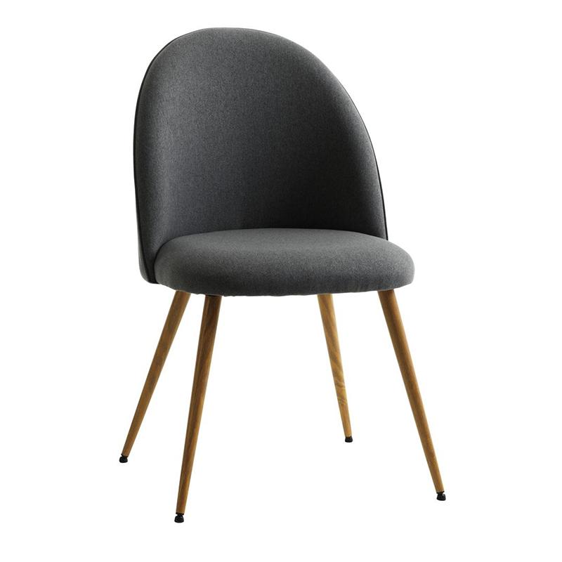Scaun pentru bucatarie, 50 x 84 x 54 cm, poliester/metal, maxim 110 kg, Gri/Stejar 2021 shopu.ro
