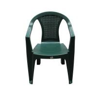 Scaun pentru gradina ANM, 42 x 55 x 78 cm, plastic, Verde