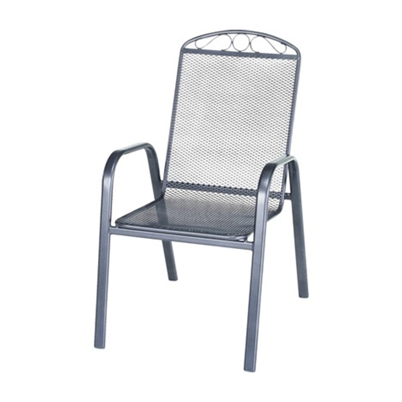 Scaun pentru terasa Garden Place, 56 x 71 x 99 cm, metal, maxim 110 kg, Gri shopu.ro