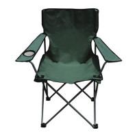 Scaun pliabil pentru camping, 81 x 52 x 85 cm, cadru metal, Verde