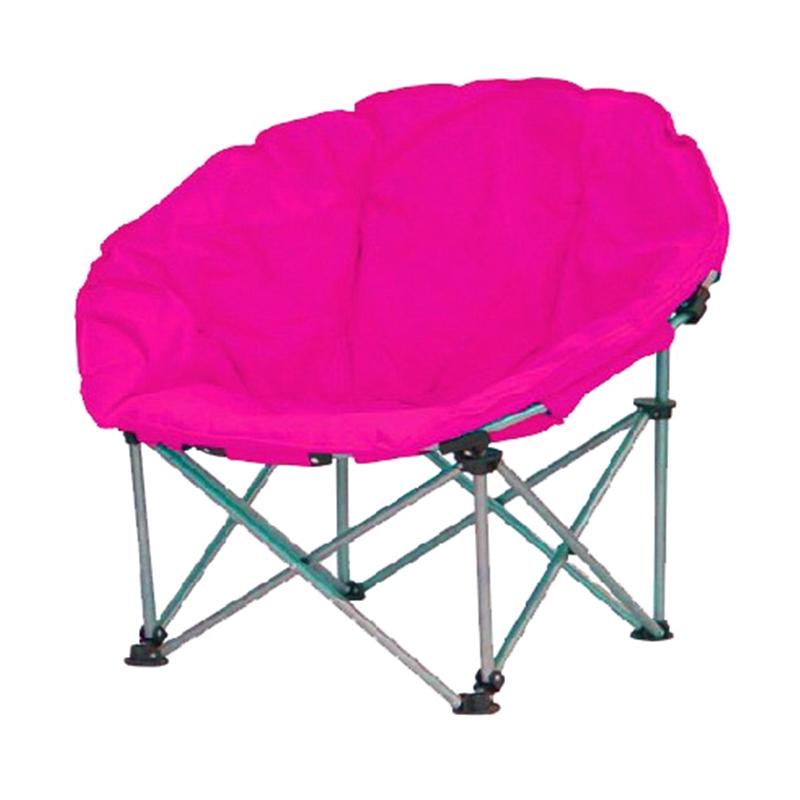 Scaun pliabil pentru camping Luna, 80 x 80 x 75 cm, structura metalica, maxim 110 kg, Roz 2021 shopu.ro