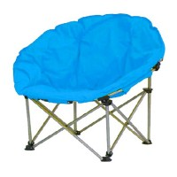 Scaun pliabil pentru camping Luna, 80 x 80 x 75 cm, structura metalica, maxim 110 kg, Albastru