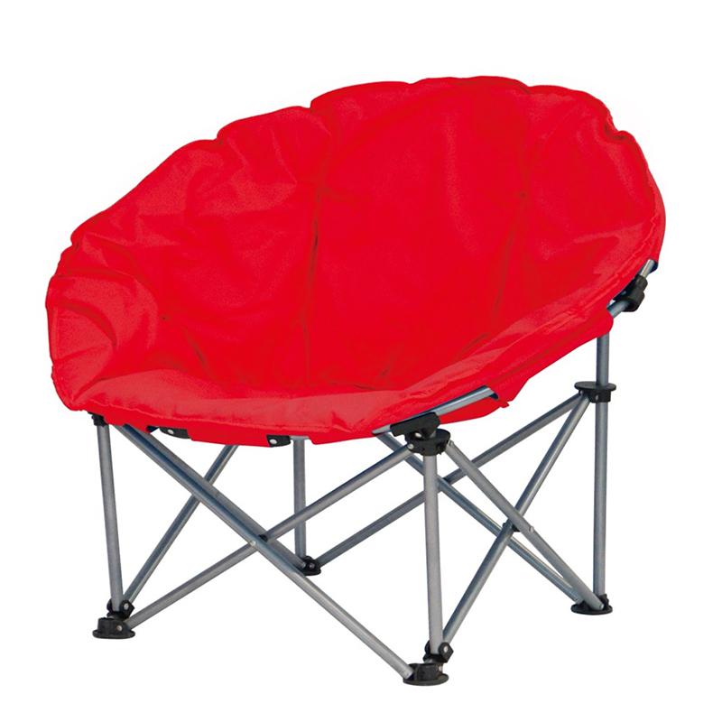 Scaun pliabil pentru camping Luna Jumbo, 100 x 100 x 98 cm, structura metalica, maxim 110 kg, Rosu 2021 shopu.ro