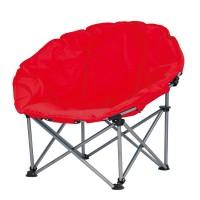 Scaun pliabil pentru camping Luna Jumbo, 100 x 100 x 98 cm, structura metalica, maxim 110 kg, Rosu