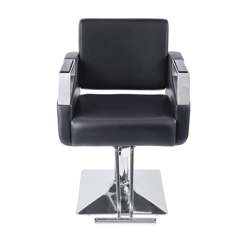 Scaun profesional pentru frizerie Eliot, 93 cm, piele ecologica, inaltime reglabila, Negru 2021 shopu.ro