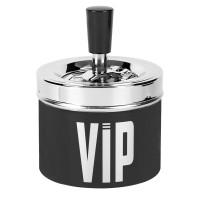 Scrumiera metalica, 9 x 7 cm, mesaj VIP