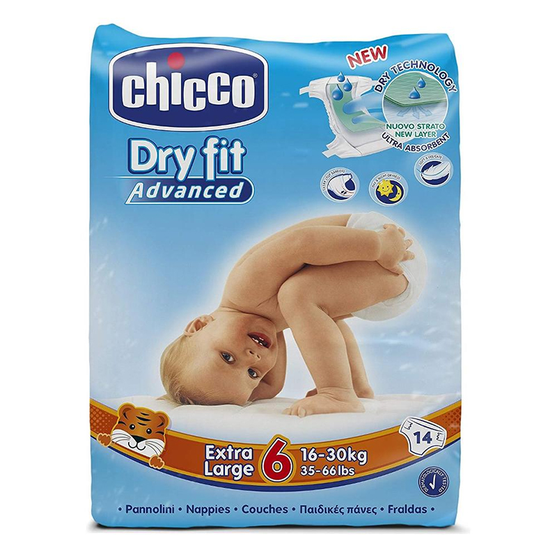 Scutece Dry Fit Advanced Junior Chicco, marime 6, 16-30 kg, 14 bucati/pachet 2021 shopu.ro