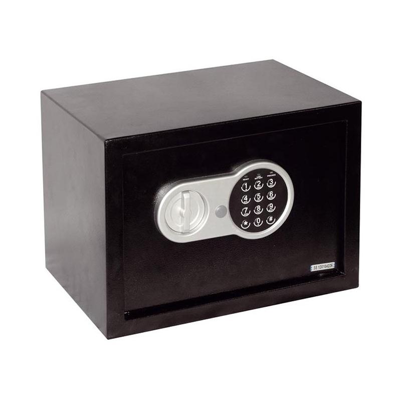 Seif electronic digital, 25 x 35 x 25 cm, 2 chei incluse, Negru 2021 shopu.ro