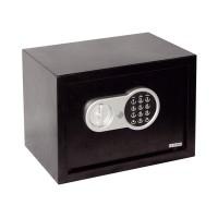 Seif electronic digital, 25 x 35 x 25 cm, 2 chei incluse, Negru