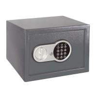 Seif electronic pentru birou, 20 x 31 x 20 cm, 2 chei incluse, Gri